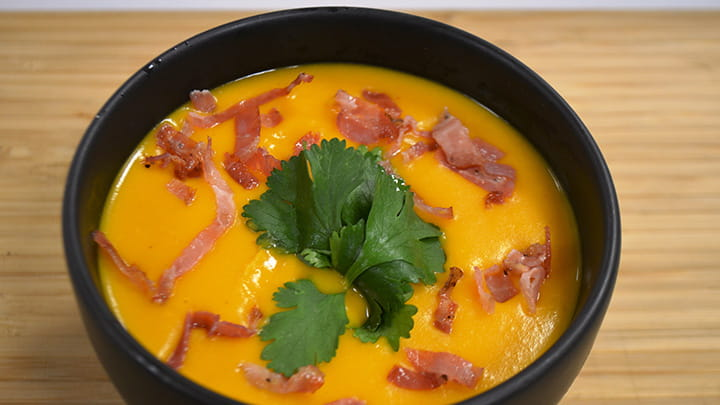 Red Curry and Squash Soup with Pancetta