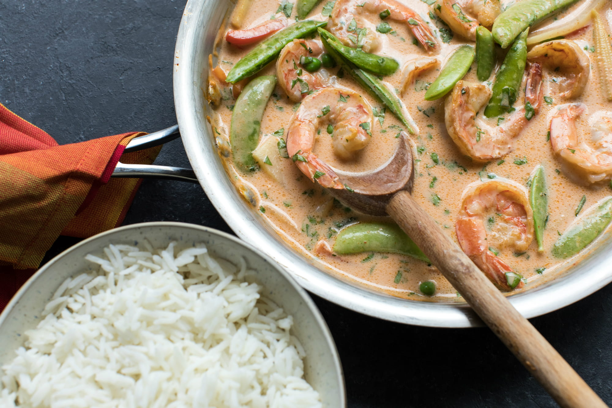 Easy Red Curry Shrimp
