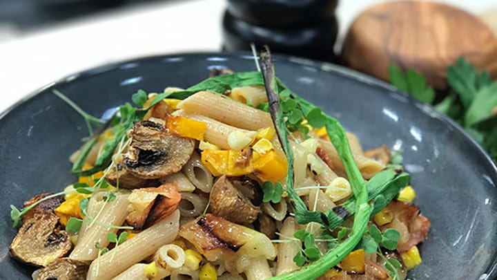 Roasted Fall Vegetable Pasta Salad
