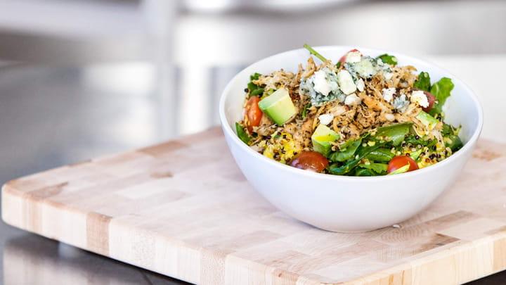 Chicken Quinoa Kale Salad with Turmeric Vinaigrette
