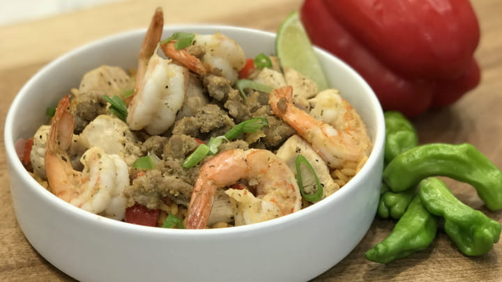 Skinny Jambalaya Rice Bowl