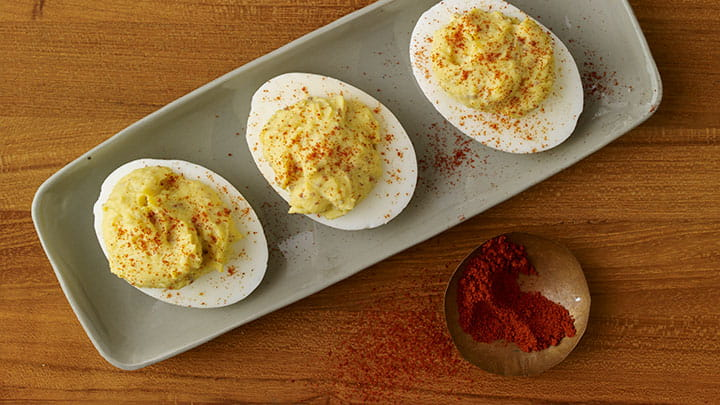 Deviled Eggs with Smoked Creole Mustard