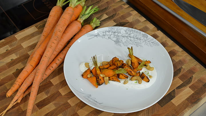 Spice Roasted Carrots with Cardamom Yogurt