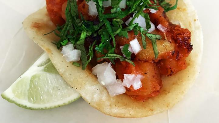 Spiced Potato and Tomato Tacos