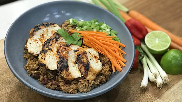 Sriracha Chicken Bibimbap Rice Bowl