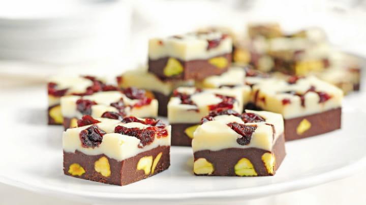 Tart Cherry and Pistachio Fudge