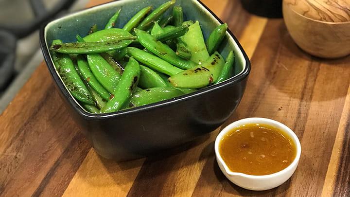 Blistered Sugar Snap Peas with Thai Inspired Vinaigrette