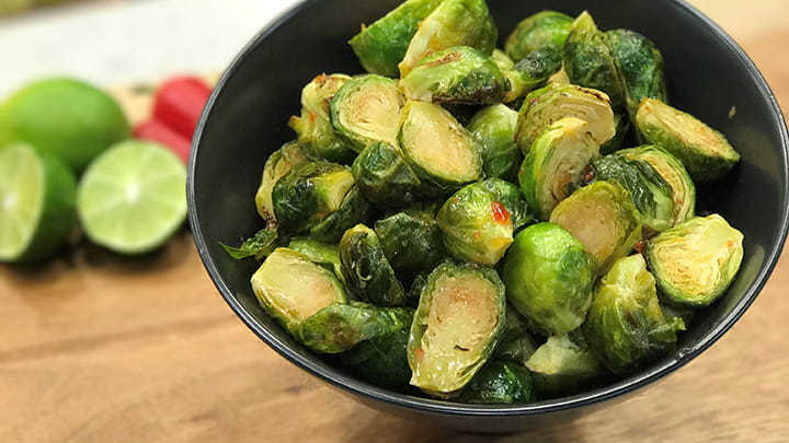 Thai Sweet Chili Roasted Brussels Sprouts