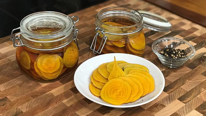 Vanilla Pickled Beets