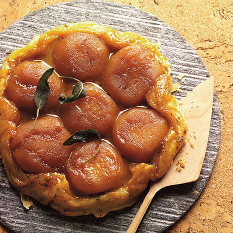Apple Sage Tarte Tatin