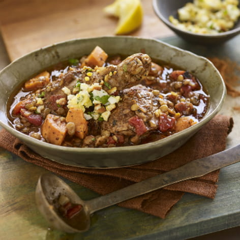 East African Chicken and Lentil Stew