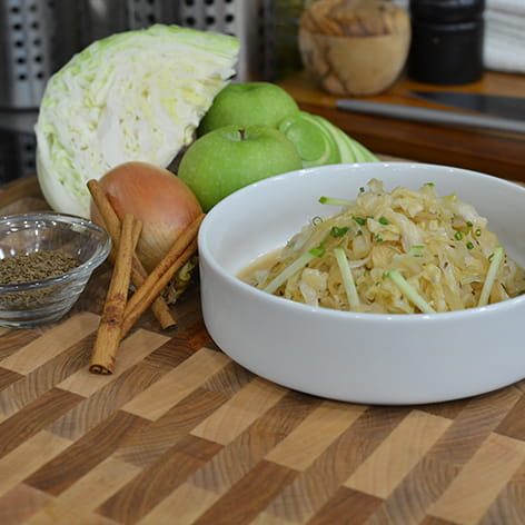 Cider Braised Cabbage and Apples