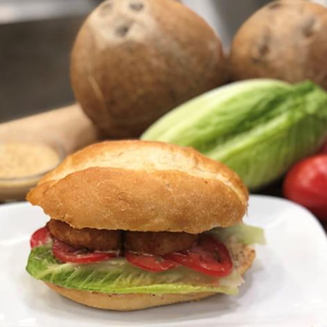 Coconut Shrimp Po Boy Sandwich