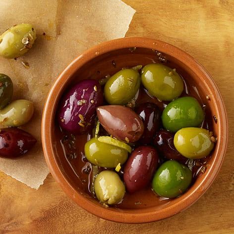 Cumin and Coriander Marinated Olives