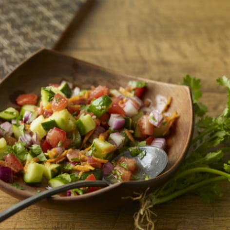 East African Fresh Tomato and Cucumber Salad