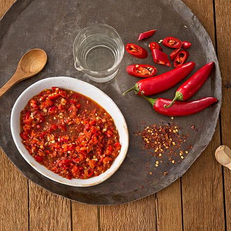 Fiery Fresh Sambal Sauce