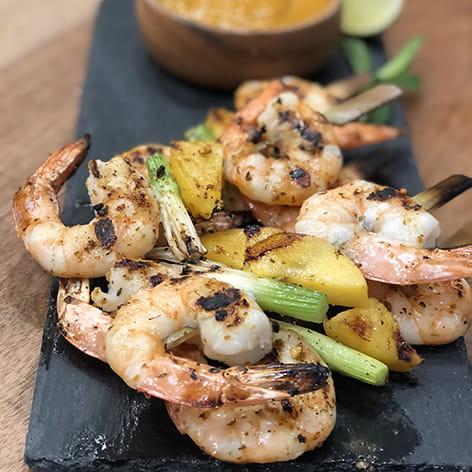 Tropics Glazed Shrimp Kabobs
