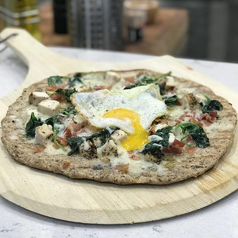 Grilled Chicken Carbonara Pizza