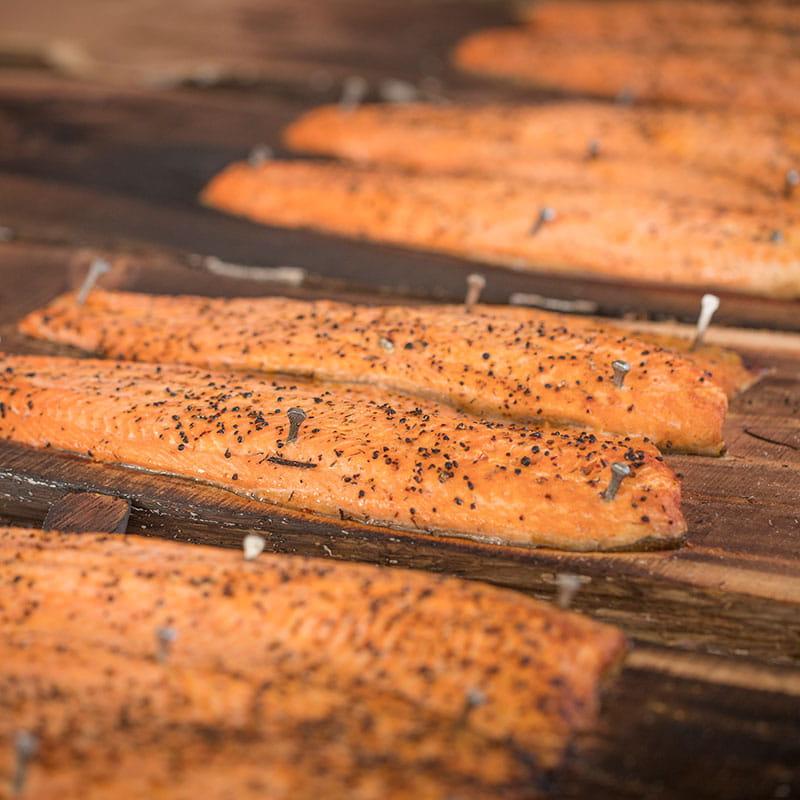 Grilled Salmon with Bourbon BBQ Glaze
