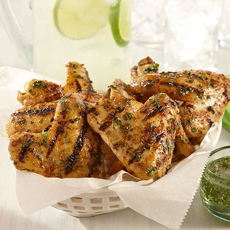 Grilled Mojito Chicken Wings