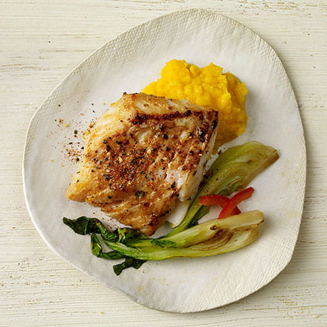 Japanese 7 Spice Cod with Miso Butternut Squash and Bok Choy