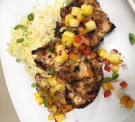 Jerk Chicken with Mango Salsa