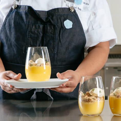Lemon Juniper Curd w/ Herbes De Provence Ice Cream