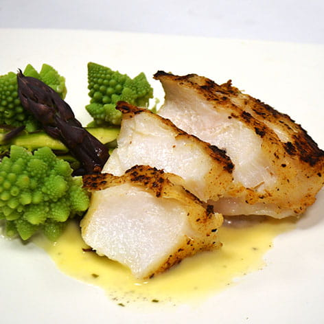 OLD BAY Crusted Grilled Halibut with Citrus Butter Sauce