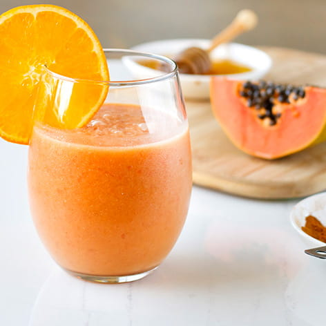 Orange, Papaya and Coconut Smoothie