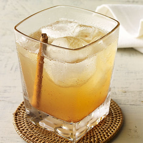 Peachy Bourbon with Smoked Cinnamon Bitters