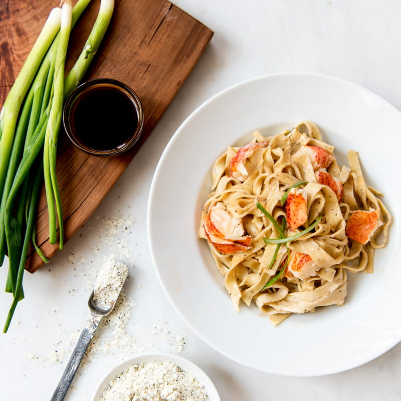 Pepper Tagliatelle with Lobster and Vanilla Sauce