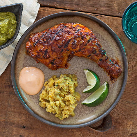 Peruvian Chicken with Chile Sauces