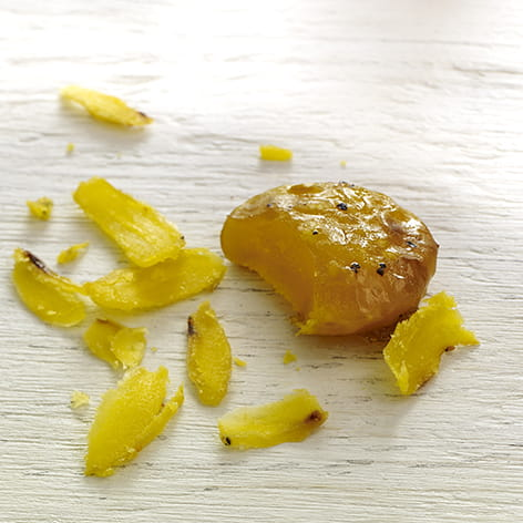 Rosemary Garlic Cured Egg Yolks