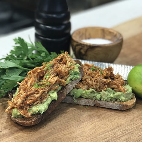 Stubb's® Smokey Chicken and Avocado Toast