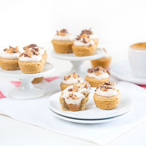 Snickerdoodle Bites with Caramel Filling and Coconut Whipped Cream