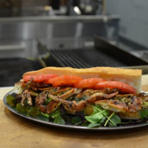 Grilled Soft Shell Crab Po Boy