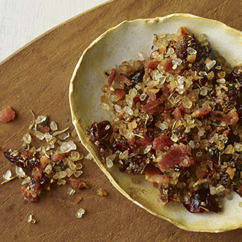 Sour Cherry Bacon and Thyme Salt
