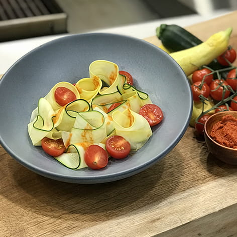 Squash Ribbon Salad with Red Curry Vinaigrette