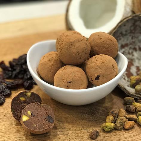 Vegan Dark Chocolate Truffles