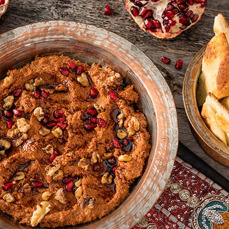 Toasted Walnut Dip with Pomegranate Molasses