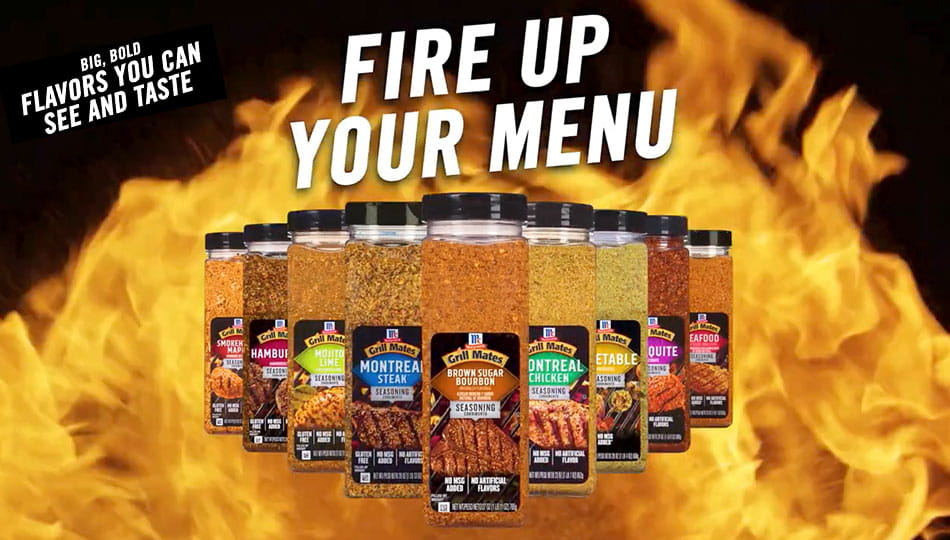 Grill Mates: big bold flavor you can see and taste