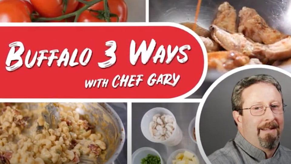 Buffalo three ways with Chef Gary