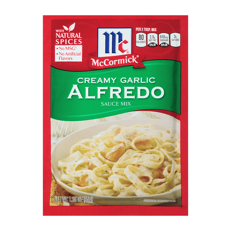 McCormick® Creamy Garlic Alfredo Sauce Mix