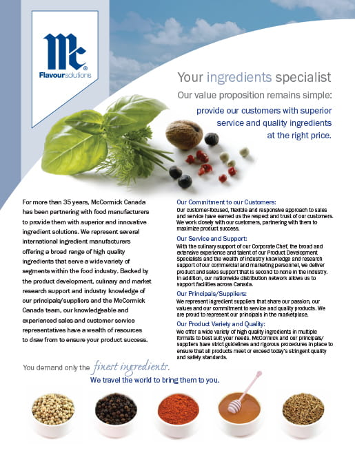 Your Ingredient Specialist