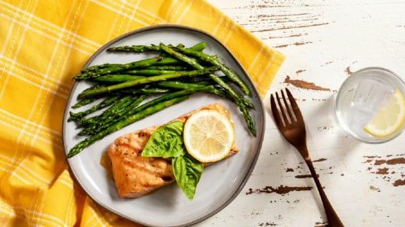 Asparagus-salmon