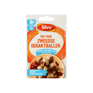 100% natuurlijke mix voor Zweedse gehaktballen zonder toegevoegd zout, vol van smaak | Silvo