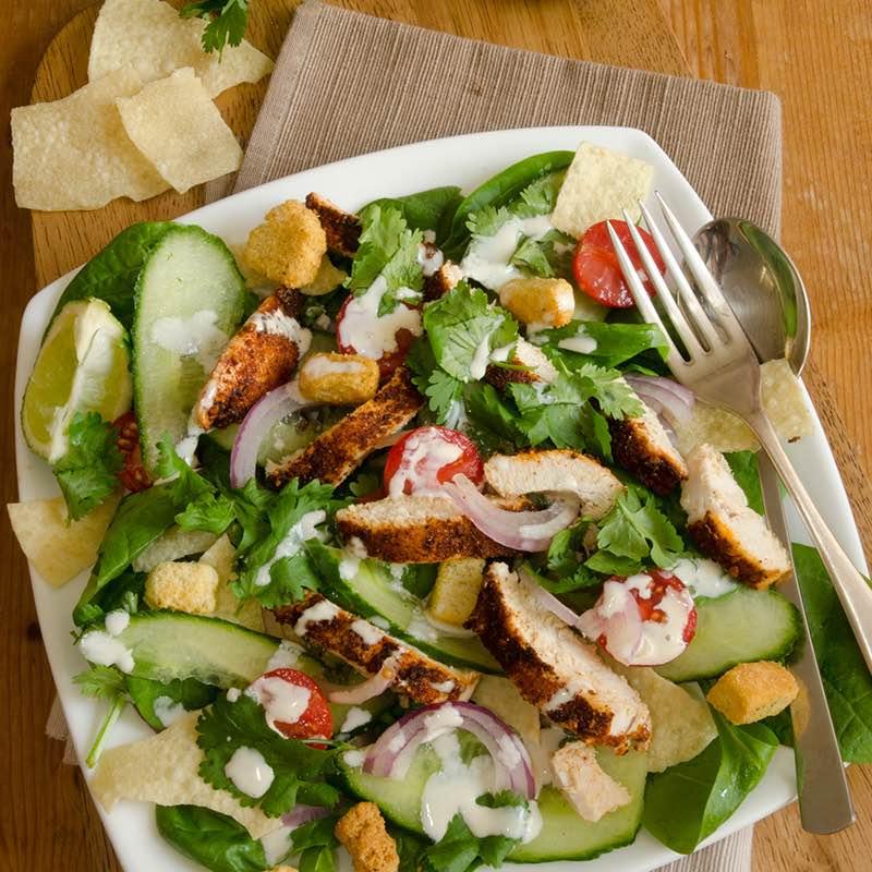 Salade van groene asperges met spekjes