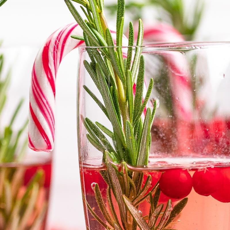 Winterse sangria met cranberry's