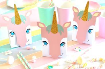 Atelier anniversaire : Boîtes cadeaux licorne