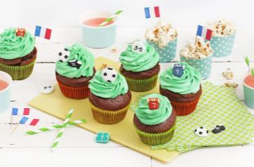Cupcakes Football au Chocolat